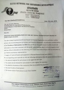 32 MILLION NAIRA TRACTORS AND IMPLEMENTS CONSTITUENCY PROJECT IN BARUTEN AND KAIAMA OF KWARA STATE: HON. ZAKARI MUHAMMAD FAILS TO PROVIDE LOCATION